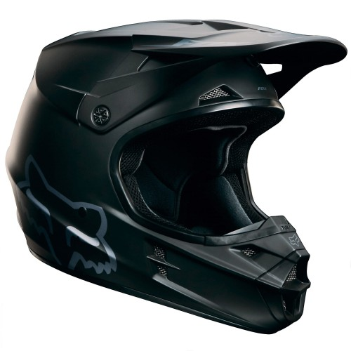Kask Fox V1 Matt Black Helmet MX