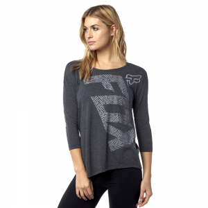 Fox Angled Long Sleeve Top