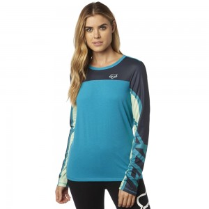 Fox Comparted Mesh Long Sleeve Top